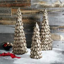 For the small tree it takes about 60-70 pieces of ribbon. Before I get  started I wanted to share a picture of the Burlap Christmas Trees from West  Elm.