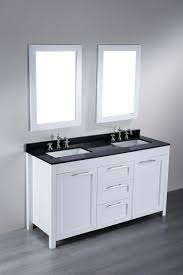 White Bathroom Cabinet 48 Bathroom Vanity With Granite Top Double Vanity In White With