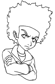 boondocks coloring pages funycoloring within