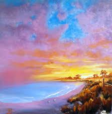 sunset beach acrylic print canvas print