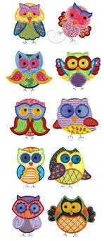 Owl Birthday Applique Design Embroidery Designs Free Machine Embroidery Designs Jumbo
