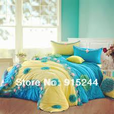 blue yellow korean princess bed skirt ed bed sheets 6pcs set 100 cotton luxury lace bedding king queen duvet cover mattress