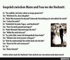 Gespräch Zwischen Mann Und Frau Vor Der Hochzeit Lustige Bilder