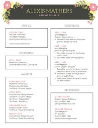 Bordered Floral Modern Resume