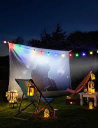 garden lighting ideas. multicoloured festoon lights garden lighting ideas s