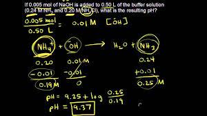 Buffer Solution Ph Calculations