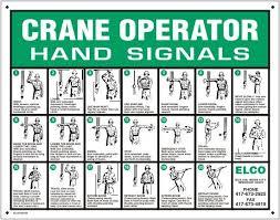 Crane Operator Hand Signals Hand Signals Construction