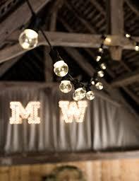 rustic wedding lighting. festoon wedding lights rustic lighting