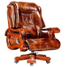 red leather desk chair office chairs staples brown part uk
