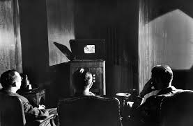 black kids watching tv. radio corporation of america (rca) executives watch a brand new invention called television, black kids watching tv e