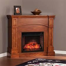southern enterprises lantana corner infrared electric fireplace in oak fi9625