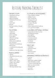 Festival Packing Guide {& Free Printable Checklist} | The Cornish Life