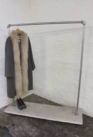 industrial galvanized pipe clothes rack on casters
