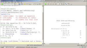 latex tutorial 12 how to label and reference equations
