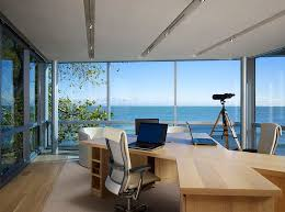 outside home office. Modern Home Office Keeps The Focus On View Outside P