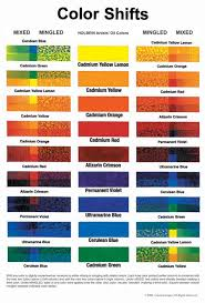 Colour Mixing Chart For Artists Color Shifts Color Mixing Chart Art Color Mixing Charts