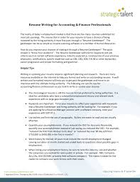 Resume Writing For Accounting Finance Professionals Pages 1 3