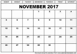 printable november calendar november 2017 calendar template calendar 2017 printable