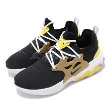 Details About Nike React Presto Black Yellow Brutal Honey Mens Running Shoes Av2605 001