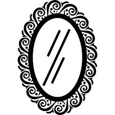 mirror clipart black and white. pin mirror clipart icon #12 black and white r