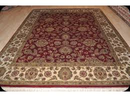 8 x 10 wool persian victorian design red background rug
