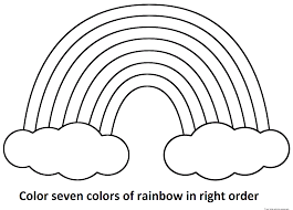 Coloring Page : Rainbow Color Pages A Simple Drawing Of Behind The ...