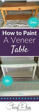 laminate furniture makeover. How To Paint Veneer Laminate Furniture Makeover