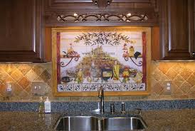 Mural Tiles For Kitchen Decor Italian Tile Backsplash Kitchen Tiles Murals Ideas 2