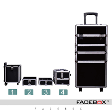 facebox brand 4 in 1 trolley makeup box beauty case with wheels professional makeup trolley makeup