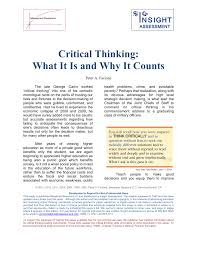 Essay About Critical Thinking Pdf Critical Thinking What It Is And Why It Counts