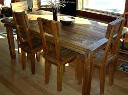 reclaimed wood kitchen table sets lovely rustic dining room chairs 8 teak wood furniture made of