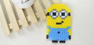 Cute Perler Bead Patterns Beauteous Cartoon Character Designs On How To Make A Cute Minion Out Of Perler