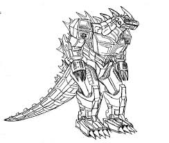 Small Picture Godzilla Robot Godzilla Coloring Pages Print Pinterest