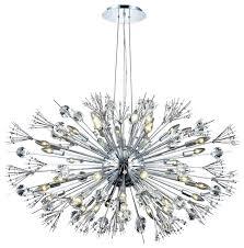 starburst 24 light chrome crystal sputnik chandelier midcentury chandeliers