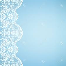 Wedding Invitation Background Blue Template For Wedding Invitation Or Greeting Card With Lace Fabric