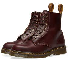 dr martens pascal boot made in england horween burdy chrome exel end