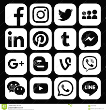 facebook twitter logo black and white. Brilliant And Collection Of Popular White Social Media Icons To Facebook Twitter Logo Black And White