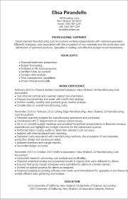 Resume Templates: Manufacturing Cost Accountant