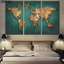 world map canvas wall art vintage dark green global maps paintings for office living meeting room on world map wall art with photo frames with world map canvas wall art vintage dark green global maps paintings