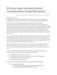 Uc Davis Active Directory Unified Communications Design