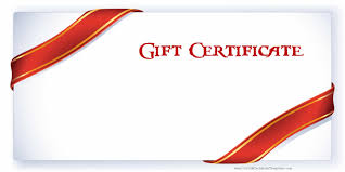 Gift Coupon Template Printable Gift Certificate Templates 1