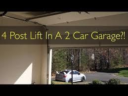 high lift garage door4 Post Lift Prep Installing a High Lift Garage Door  YouTube