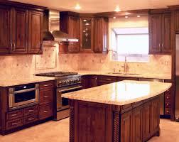 Red Oak Wood Orange Zest Lasalle Door Cheap Kitchen Cabinet Doors  Backsplash Mirror Tile Granite Laminate Countertops Sink Faucet Island  Lighting Flooring
