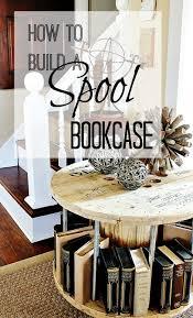 spool bookcase coffee table