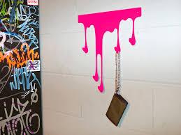 Pink Coat Rack Wallmounted coat rack contemporary metal DROP L by Julian 37