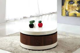 how to decorate a round glass coffee table round wooden coffee table decor with orange vase