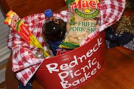 redneck picnic basket recipes we love very fun idea great for a funny gift i am so doing this for our grab basket