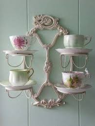 Decorative Cup And Saucer Holders teacup stand display IRON Tea Cup Saucer Display Stand 60 Tiered 9
