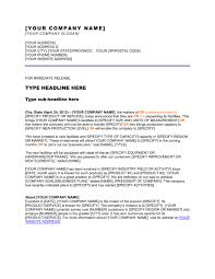 Simple Press Release Template Press Release Company Has Expanded Its Facilities Template Word