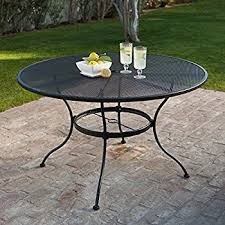 Amazon Belham Living Stanton 48 in Round Wrought Iron Patio